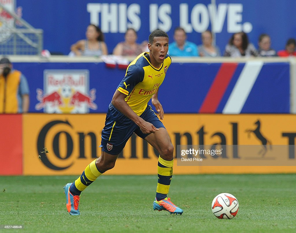 Isaac Hayden of Arsenal the pre season match between New York Red Bulls and Arsenal at Red Bull Arena on July 26, 2014 in Harrison, New Jersey.