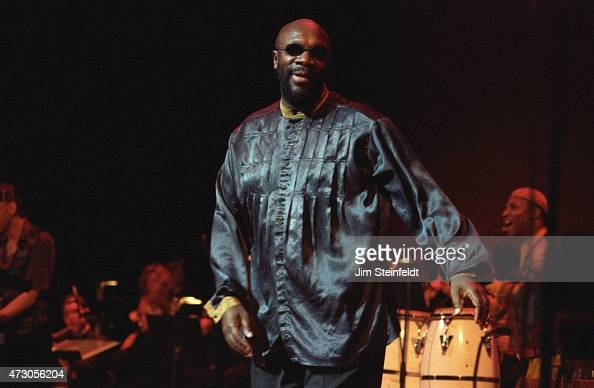 Isaac Hayes performs at the Universal Amphitheatre in Los Angeles California on July 7 1996