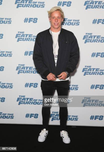 Isaac Heeney arrives ahead of The Fate of the Furious Sydney Premiere on April 11 2017 in Sydney Australia