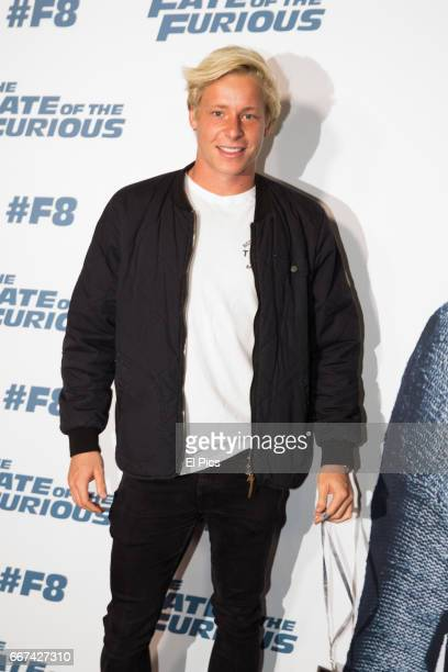 Isaac Heeney Sydney Swans player arrives ahead of The Fate of the Furious Sydney Premiere on April 11 2017 in Sydney Australia