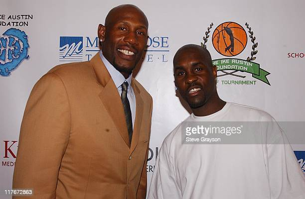 Isaac 'Ike' Austin and Gary Payton during The Isaac Ike Austin Inaugural Golf Tournament For The Benefit of The Ike Austin Foundation Gala at Le...