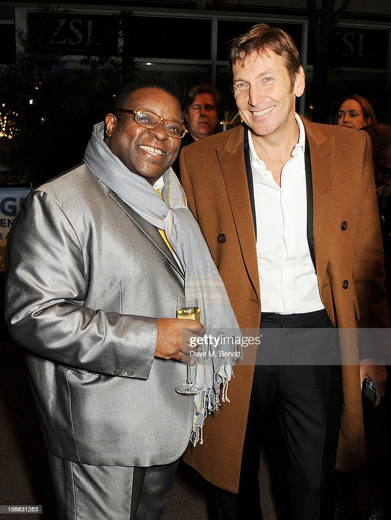 Isaac Julien (L) and Zeitz Foundation founder Jochen Zeitz arrive at the Zeitz Foundation and ZSL Gala at London Zoo on November 22, 2012 in London, England.