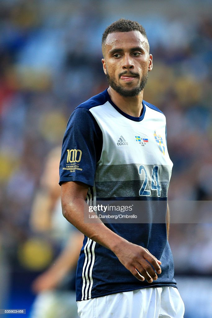 Isaac Kiese Thelin of Sweden during the international friendly match between Sweden and Slovenia on May 30, 2016 in Malmo, Sweden.