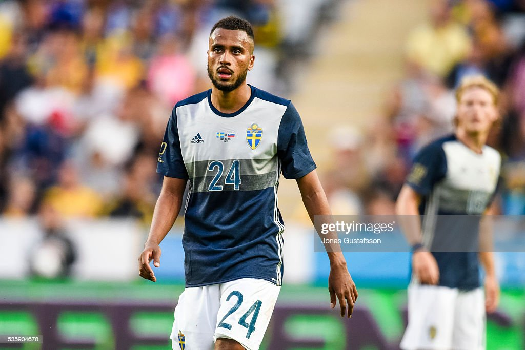 Isaac Kiese Thelin of Sweden during the international friendly match between Sweden and Slovenia May 30, 2016 in Malmo, Sweden.