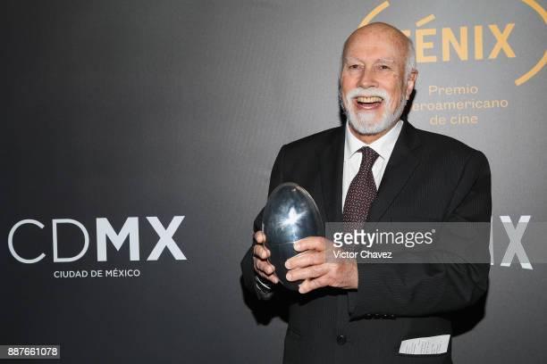 Isaac Leon Frias attends the the Premio Iberoamericano De Cine Fenix 2017 press room at Teatro de La Ciudad on December 6 2017 in Mexico City Mexico