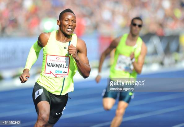 Isaac Makwala of Botswana runs to win Men's 400m race during the ISTAF Athletics Meeting at the Olympic stadium in Berlin in Berlin Germany on August...
