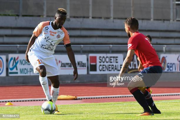 Isaac Mbenza during the friendly match between Montpellier Herault and Clermont foot on July 19 2017 in Millau France