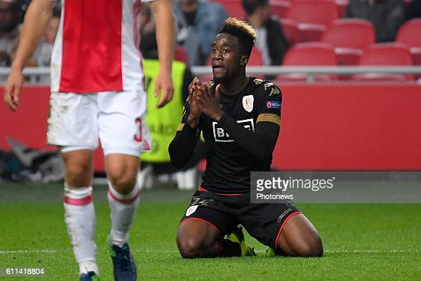 Isaac Mbenza forward of Standard Liege during the Europa League group G game between Ajax Amsterdam and Standard Liege on September 29 2016 in...