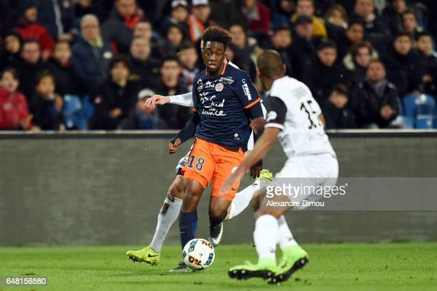 Isaac Mbenza of Montpellier during the French Ligue 1 match between Montpellier and Guingamp at Stade de la Mosson on March 4 2017 in Montpellier...