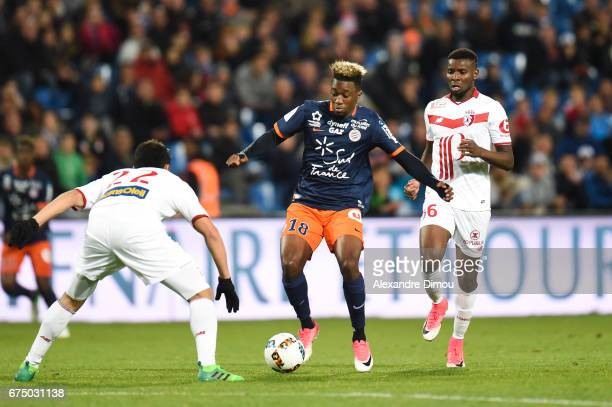 Isaac Mbenza of Montpellier during the French Ligue 1 match between Montpellier and Lille at Stade de la Mosson on April 29 2017 in Montpellier France