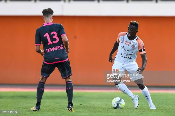 Isaac Mbenza of Montpellier during the friendly match between Montpellier Herault and Toulouse Fc on July 22 2017 in Narbonne France
