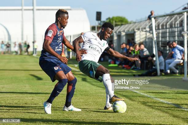 Isaac Mbenza of Montpellier during the Friendly match between Montpellier and Saint Etienne on July 26 2017 in GrauduRoi France