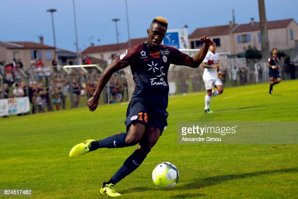 Isaac Mbenza of Montpellier during the Friendly match between Montpellier Herault and Olympique Lyonnais on July 30 2017 in Montpellier France