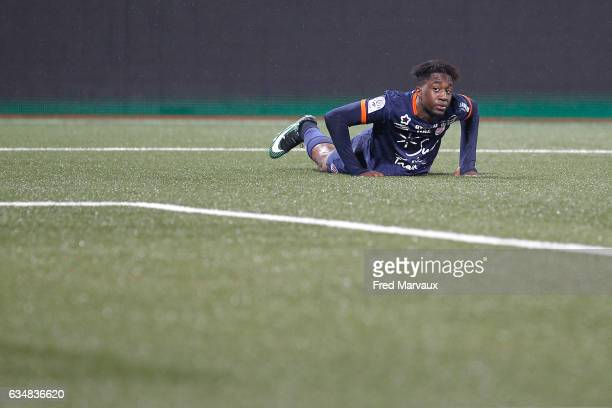 Isaac Mbenza of Montpellier during the Ligue 1 match between As Nancy Lorraine and Montpellier Herault at Stade Marcel Picot on February 11 2017 in...