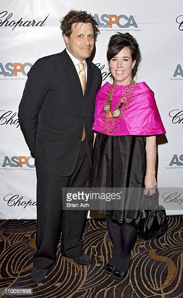 Isaac Mizrahi and Kate Spade during The Tenth Annual ASPCA Bergh Ball 'Tails of Time' at Mandarin Oriental in New York City New York United States