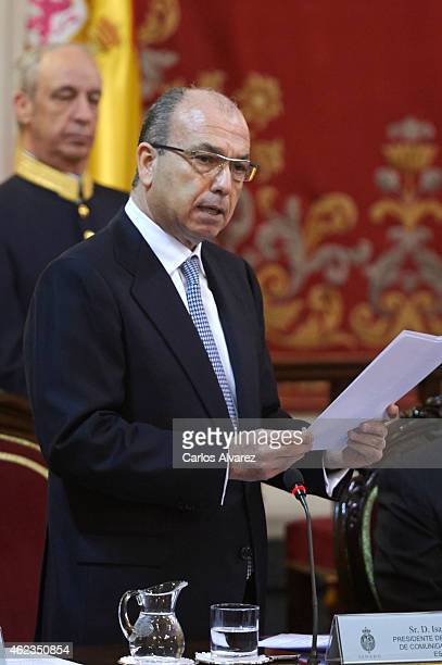 Isaac Querub Caro attends the official day of the commemoration of the holocaust at the Senate Palace on January 27 2015 in Madrid Spain