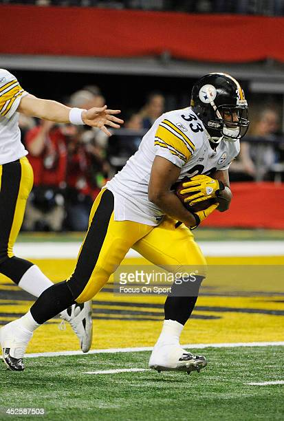 Isaac Redman of the Pittsburgh Steelers warms up during pregame warm ups prior to the start of Super Bowl XLV against the Green Bay Packers February...