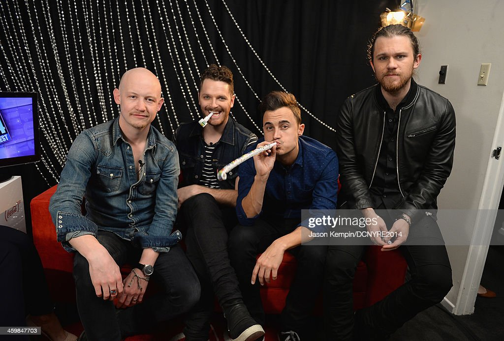 Isaac Slade, Ben Wysocki, Joe King and Dave Welsh of The Fray attend Dick Clark's New Year's Rockin' Eve with Ryan Seacrest 2014 on December 31, 2013 in Los Angeles, California.