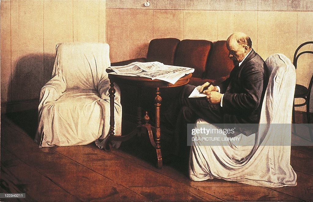 Isaak Izrailevich Brodsky (1884-1939), Lenin (1870-1924) in the Smolny Institute, 1930.
