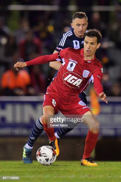 Isaas Sanchez of United controls the ball during the round of 16 FFA Cup match between Adelaide United and Melbourne Victory at Marden Sports Complex...
