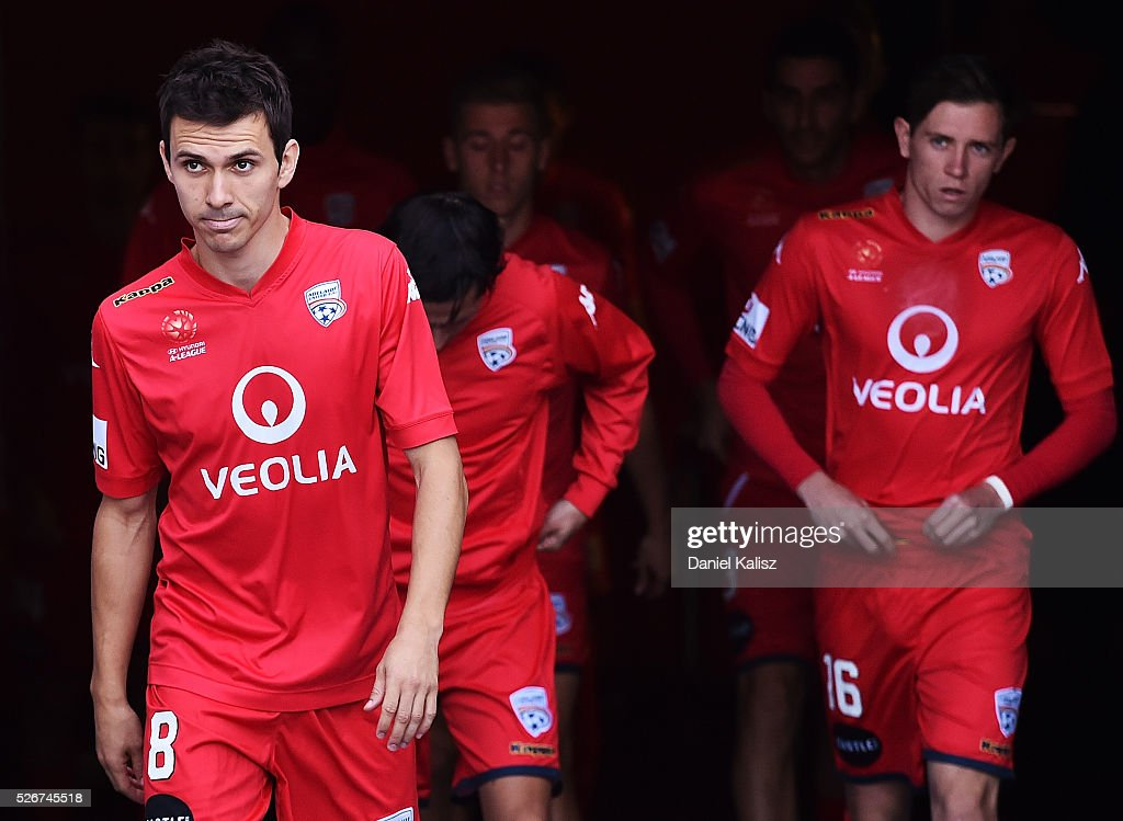 Isaas Snchez of United walks onto the field prior to the 2015/16 A-League Grand Final match between Adelaide United and the Western Sydney Wanderers at Adelaide Oval on May 1, 2016 in Adelaide, Australia.
