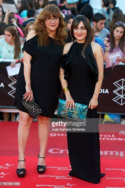 Isabel Coixet and Candela Pena attend 16 Malaga Film Festival ceremony at Teatro Cervantes on April 27 2013 in Malaga Spain