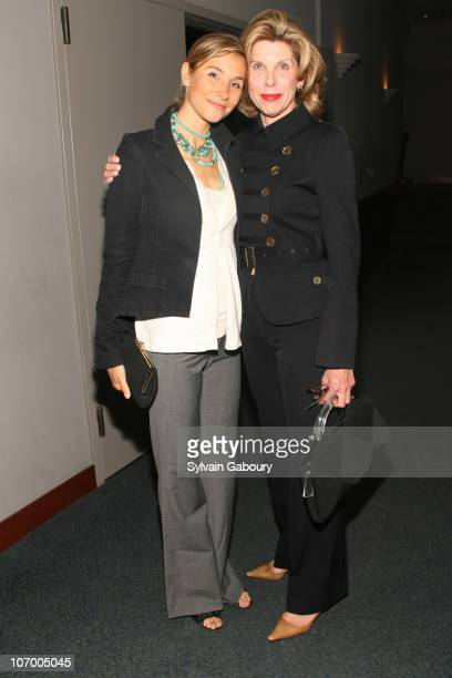 Isabel Coles and Christine Baranski during Harvey Weinstein Hosts a Private Screening of 'Bobby' for Senators Obama and Schumer Inside Arrivals at...