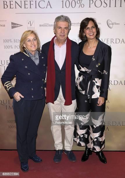 Isabel Comba Emilio de Villota and Maria Franco attend the 'Lo Que De Verdad Importa' premiere at the Hotel Vincci Capitol on February 15 2017 in...