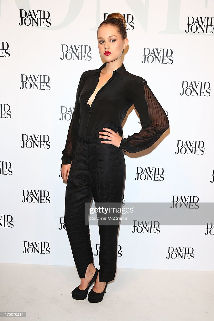 Isabel Cornish arrives at the David Jones Spring/Summer 2013 Collection Launch at David Jones Elizabeth Street on July 31, 2013 in Sydney, Australia.