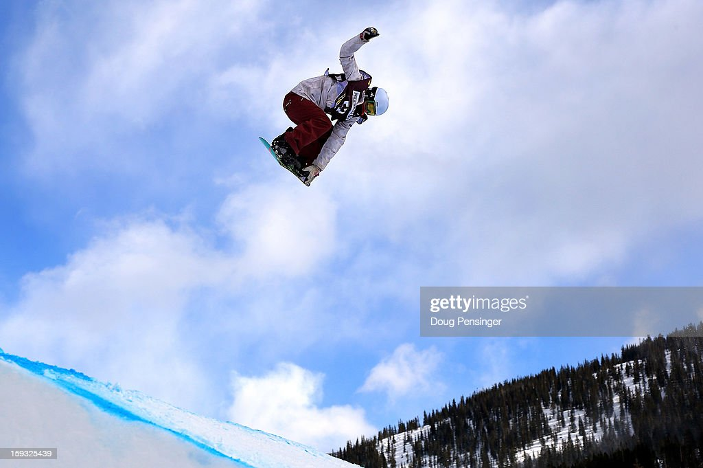 Isabel Derungs of Switzerland soars to third place in the ladies FIS Snowboard Slope Style World Cup at the US Grand Prix on January 11, 2013 in Copper Mountain, Colorado.