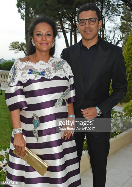 Isabel dos Santos and Sindika Dokolo arrive at the amfAR Gala Cannes 2017 at Hotel du CapEdenRoc on May 25 2017 in Cap d'Antibes France