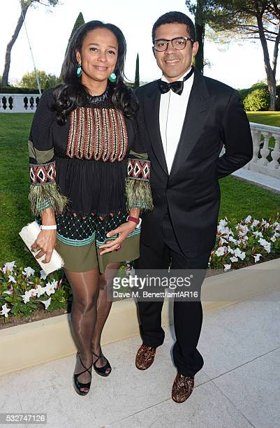Isabel dos Santos and Sindika Dokolo attend amfAR's 23rd Cinema Against AIDS Gala at Hotel du CapEdenRoc on May 19 2016 in Cap d'Antibes France