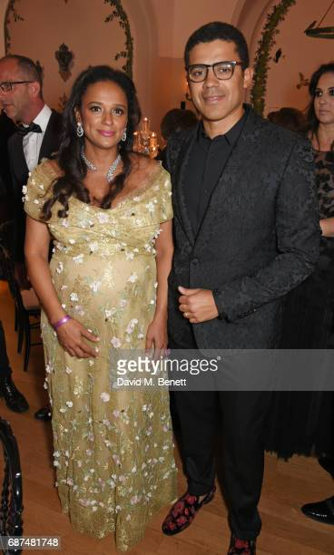 Isabel dos Santos and Sindika Dokolo attend the de Grisogono 'Love On The Rocks' party during the 70th annual Cannes Film Festival at Hotel du...