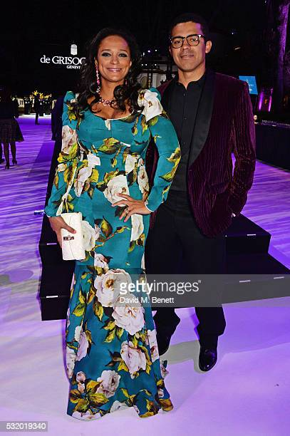 Isabel dos Santos and Sindika Dokolo attend the de Grisogono party during the 69th Cannes Film Festival at Hotel du CapEdenRoc on May 17 2016 in Cap...
