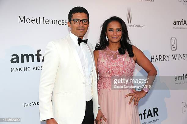 Isabel dos Santos and Sindika Dokolo pose during amfAR's 22nd Cinema Against AIDS Gala Presented By Bold Films And Harry Winston at Hotel du...