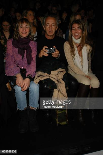 Isabel Dupre Gilles Bensimon and Nina Garcia attend Marc Jacobs Fall 2004 Collection Show at The New York State Armory on February 9 2004 in New York...