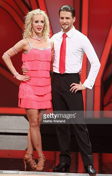 Isabel Edvardsson and Alexander Klaws attend the 8th Show of 'Let's Dance' on May 23 2014 in Cologne Germany