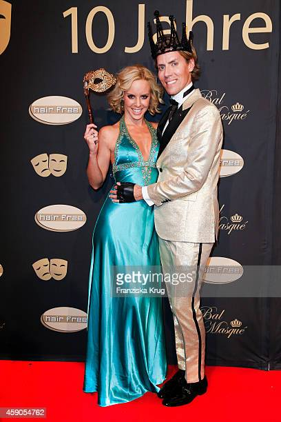 Isabel Edvardsson and Jens Hilbert attend the Hairfree Celebrates 10 Year Anniversary with Bal Masque on November 15 2014 in Darmstadt Germany
