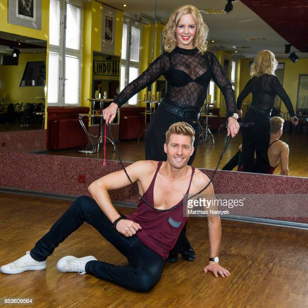 Isabel Edvardsson and Maxi Arland pose at a photo call for the tenth season of the television competition 'Let's Dance' on March 15 2017 in Berlin...