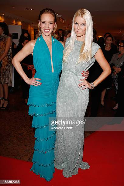 Isabel Edvardsson and Tina Kaiser attend Audi Generation Award 2013 on October 19 2013 in Munich Germany