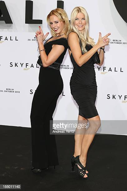 Isabel Edvardsson and Tina Kaiser attend the 'Skyfall' Germany premiere at Theater am Potsdamer Platz on October 30 2012 in Berlin Germany