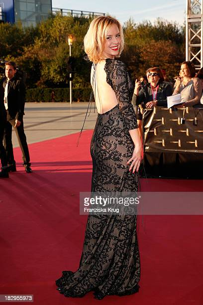 Isabel Edvardsson attends the Deutscher Fernsehpreis 2013 Red Carpet Arrivals at Coloneum on October 02 2013 in Cologne Germany
