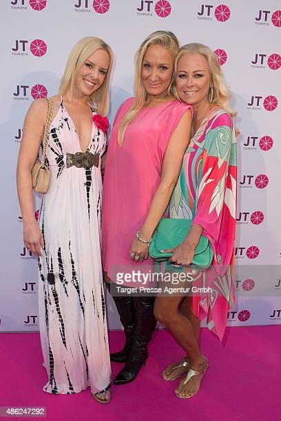 Isabel Edvardsson Janine Kunze and Jenny Elvers attend the JT Touristik BBQ on September 2 2015 in Berlin Germany