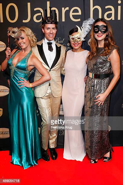 Isabel Edvardsson Jens Hilbert Nina Moghaddam and Janina Uhse attend the Hairfree Celebrates 10 Year Anniversary with Bal Masque on November 15 2014...