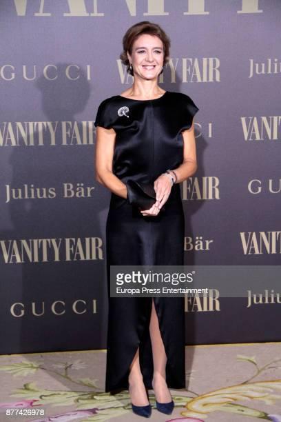Isabel Garcia Tejerina attends the gala 'Vanity Fair Personality of the Year' to Garbine Muguruza at Ritz Hotel on November 21 2017 in Madrid Spain