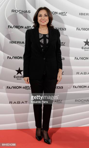 Isabel Gemio attends the 'Fashion arts' photocall at Reina Sofia museum on February 23 2017 in Madrid Spain