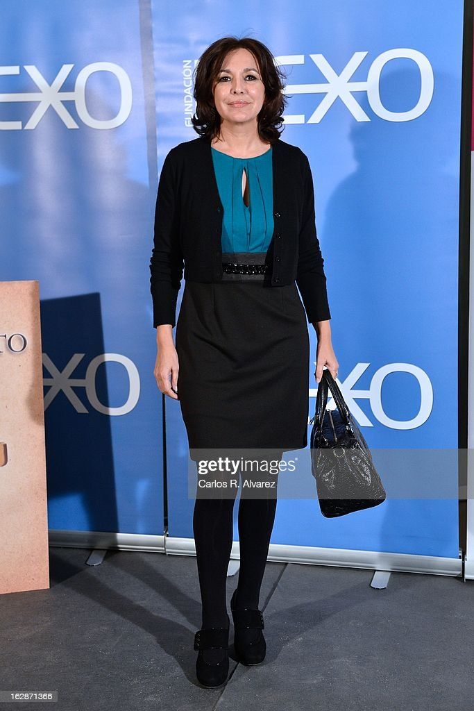 Isabel Gemio attends the presentation of 'Testamento' new book by Pedro Ruiz at the Club the Tiro on February 28, 2013 in Madrid, Spain.