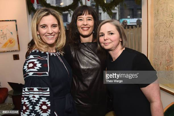 Isabel Gillies Megan Twohey and Kate Lewis attend the Hearst 100 at Michael's Restaurant on December 11 2017 in New York City