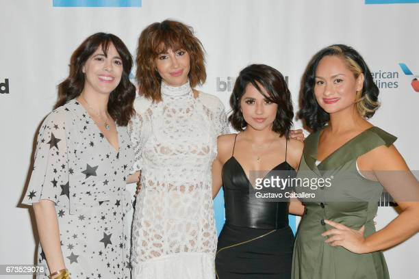 Isabel GonzalezWhitaker Jackie Cruz Becky G Carmen Perez attend the Billboard Latin Conference 2017 at Ritz Carlton South Beach on April 26 2017 in...