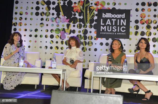 Isabel GonzalezWhitaker Jackie Cruz Carmen Perez and Becky G during The Billboard Latin Music Conference Awards LATINX Activisim panel at Ritz...